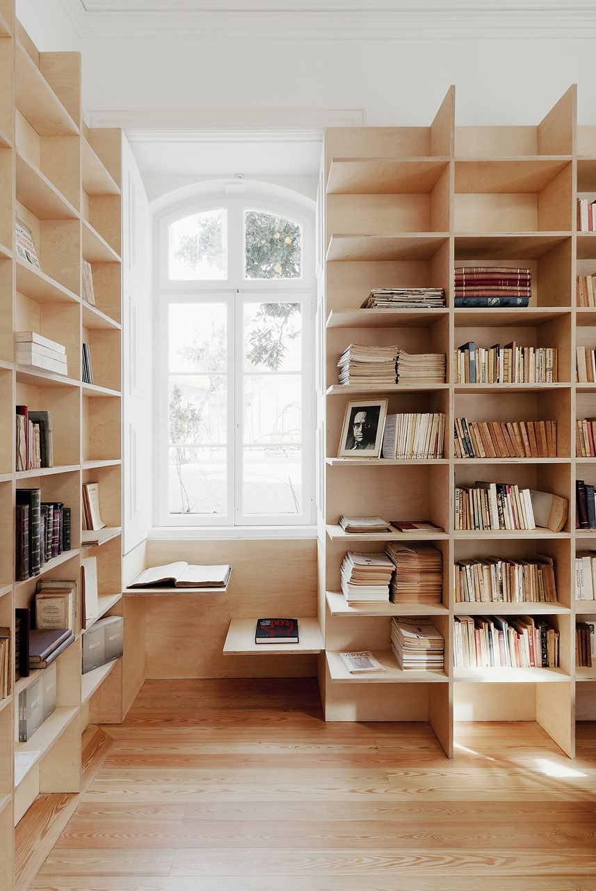 Desk under window ideas  youull never run out of spaces for your books with these custom