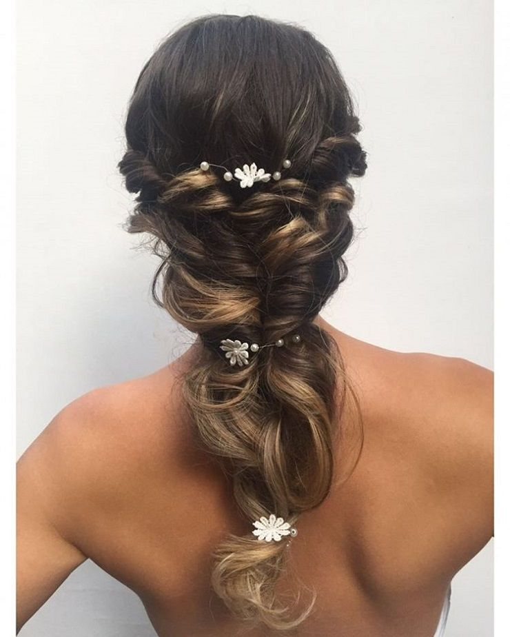 Wedding Long Braided Hair Styles | bridal hairstyles pictures #bridalhairstyles #weddinghairstyle #wedding #braidedhairstyle #hairstyles