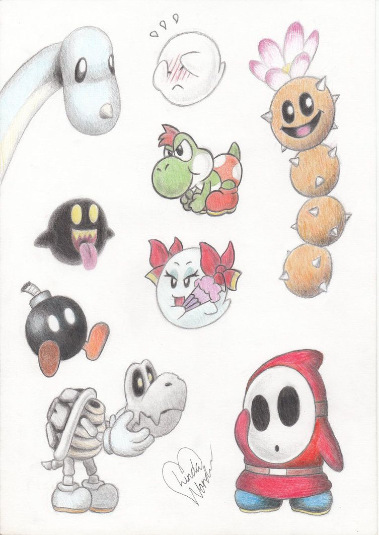 Cute Mario Characters By Marindashy On Deviantart Figur