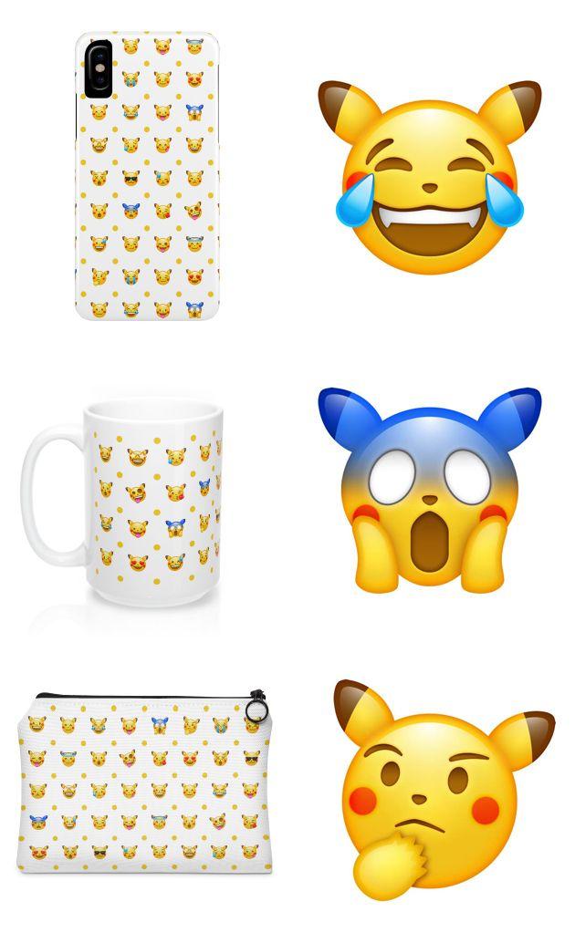 Pokemon Emoji Accessories~ #pokemon #emoji #retro #pikachu #coffee ...