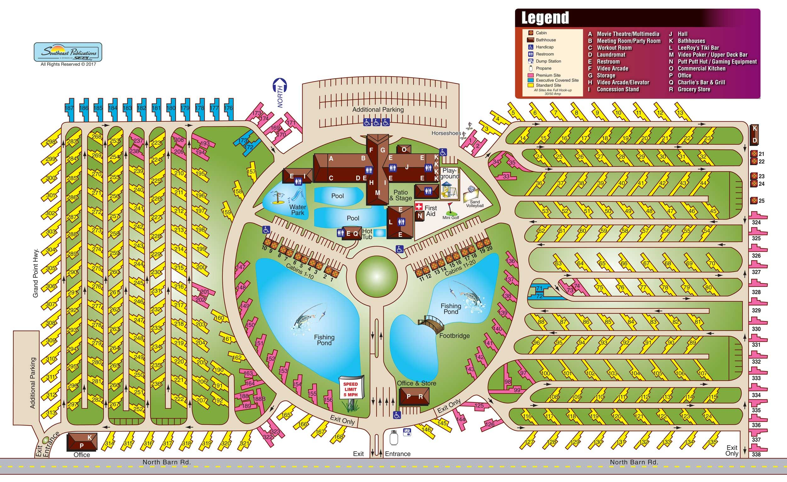 View Resort MapResort Map | Cajun Palms RV Resort | Find ... on cajun country cottages breaux bridge, pechanga rv resort map, southern palms rv resort map,