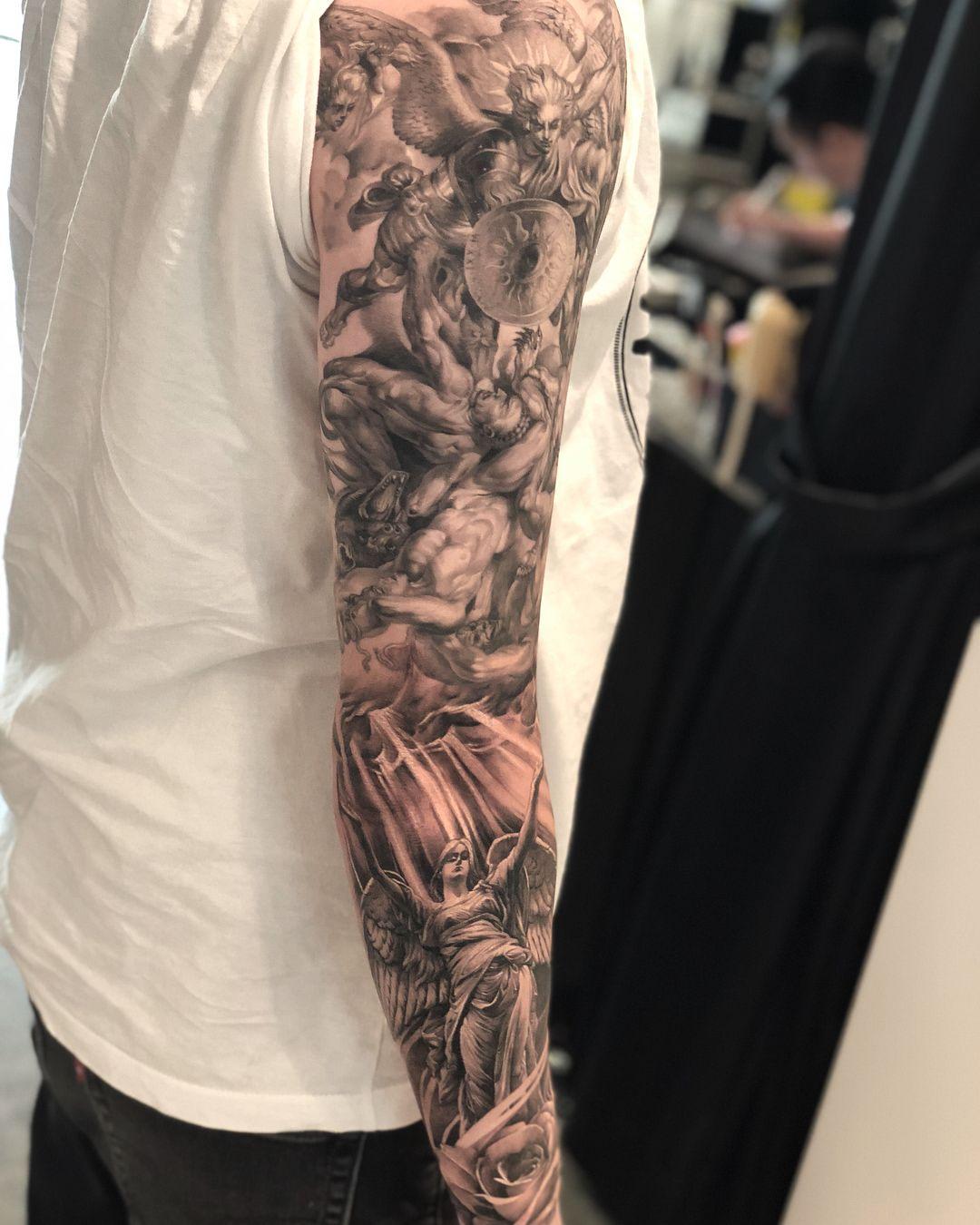 Pin By Daniel Wiggins On Tattoo In 2020 Writing Tattoos Leg Tattoo Men Best Sleeve Tattoos