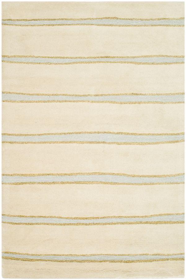 Martha Stewart Rugs Martha Stewart - Hand-Tufted Chalk Stripe Wheat / Beige (MSR-3617A) Area Rugs