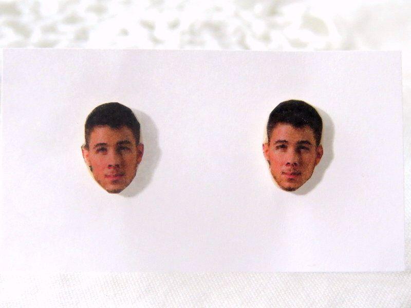 Nick Jonas Earrings Celebrity Face