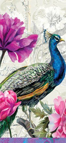 Amazon.com - Paperproducts Design Saravan Peacock Dish Towel - Kitchen Linens