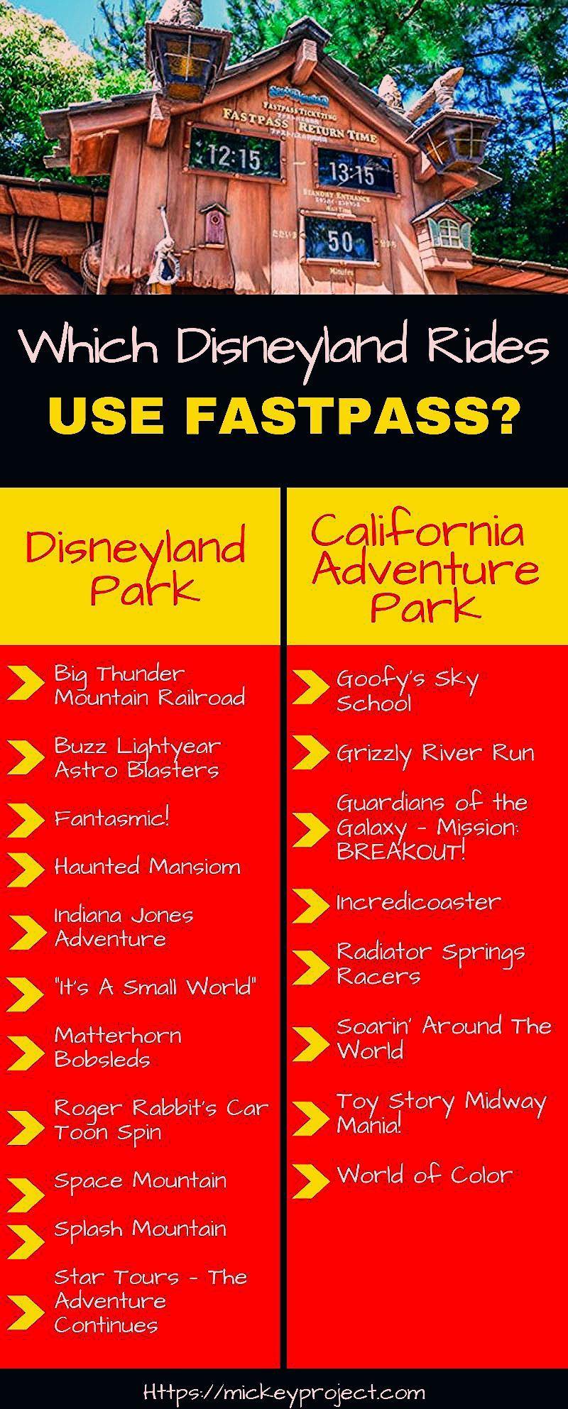 Photo of Disneyland Fastpass Ride List