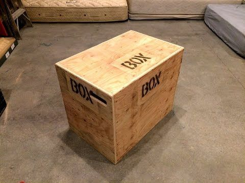 How To Build An Easy 3 In 1 Crossfit Jump Box With A Single Sheet Of Plywood Youtube Diy Plyo Box Diy Gym Crossfit Box