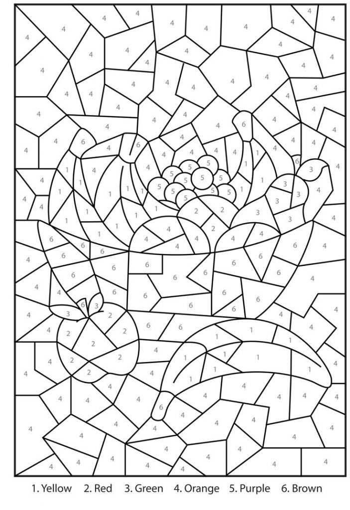 Free Printable Color By Number Coloring Pages - Best Coloring Pages For  Kids Color By Number Printable, Coloring Books, Math Coloring Worksheets