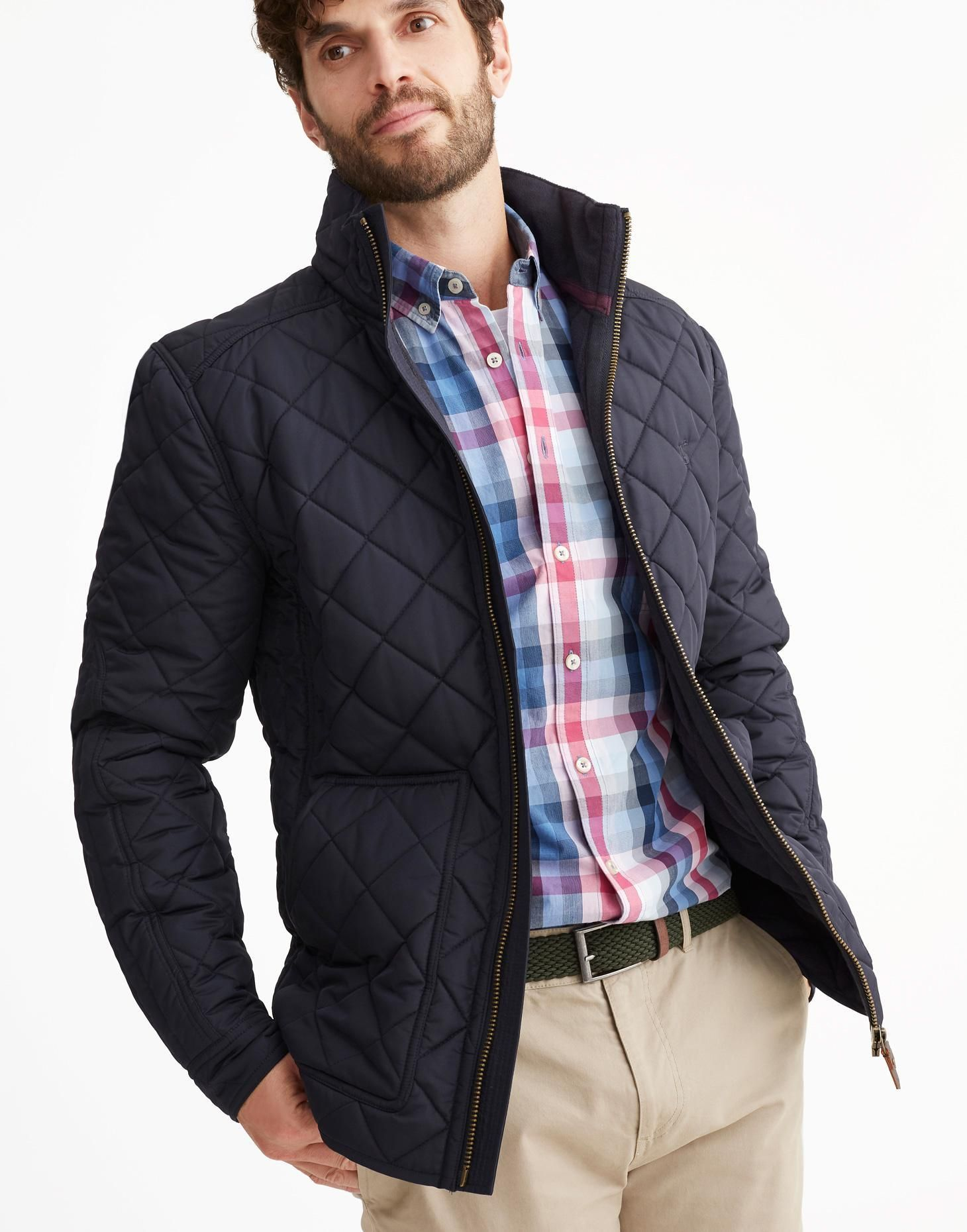Retreat MARINE NAVY Quilted Coat Joules UK Quilted