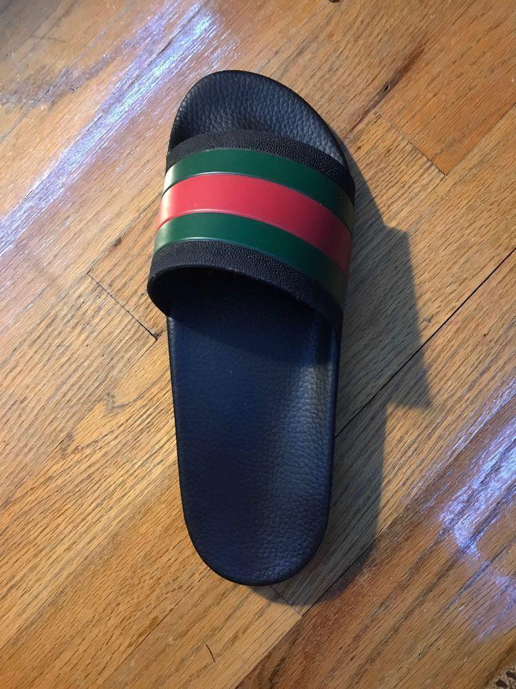 4c86c5a3216e3c Gucci Pursuit 72 Black Slides US mens size 11  fashion  clothing  shoes   accessories  mensshoes  sandals (ebay link)