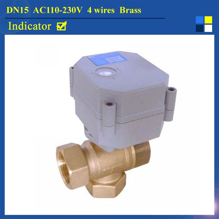 Dn15 Ac110 230v 4 Wires Tf Motorized Valve 3 Way T Type Tf15 B3 C