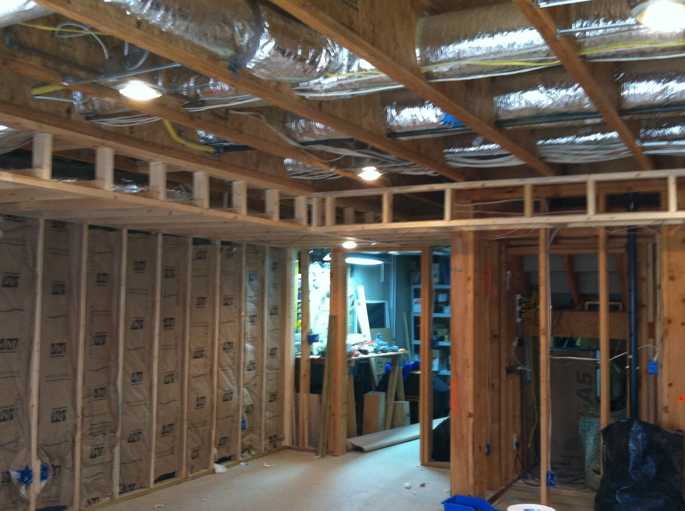Soffit And Wall Framing Basement Projects Frame Tray