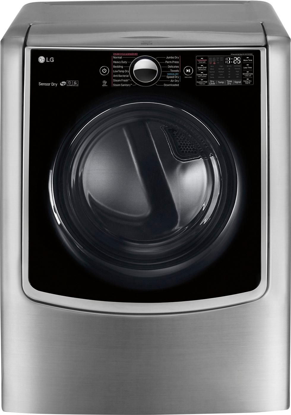 Lg 9 0 Cu Ft 14 Cycle Smart Wi Fi Electric Steamdryer Sensor Dry And Turbosteam Graphite Steel Dlex9000v With Images Electric Dryers Cool Things To Buy Gas Dryer