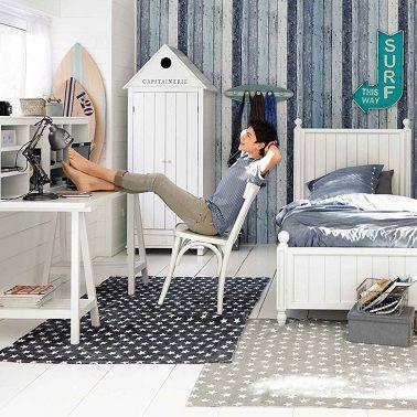 chambre ado gar on 11 d co de chambres dans le coup. Black Bedroom Furniture Sets. Home Design Ideas