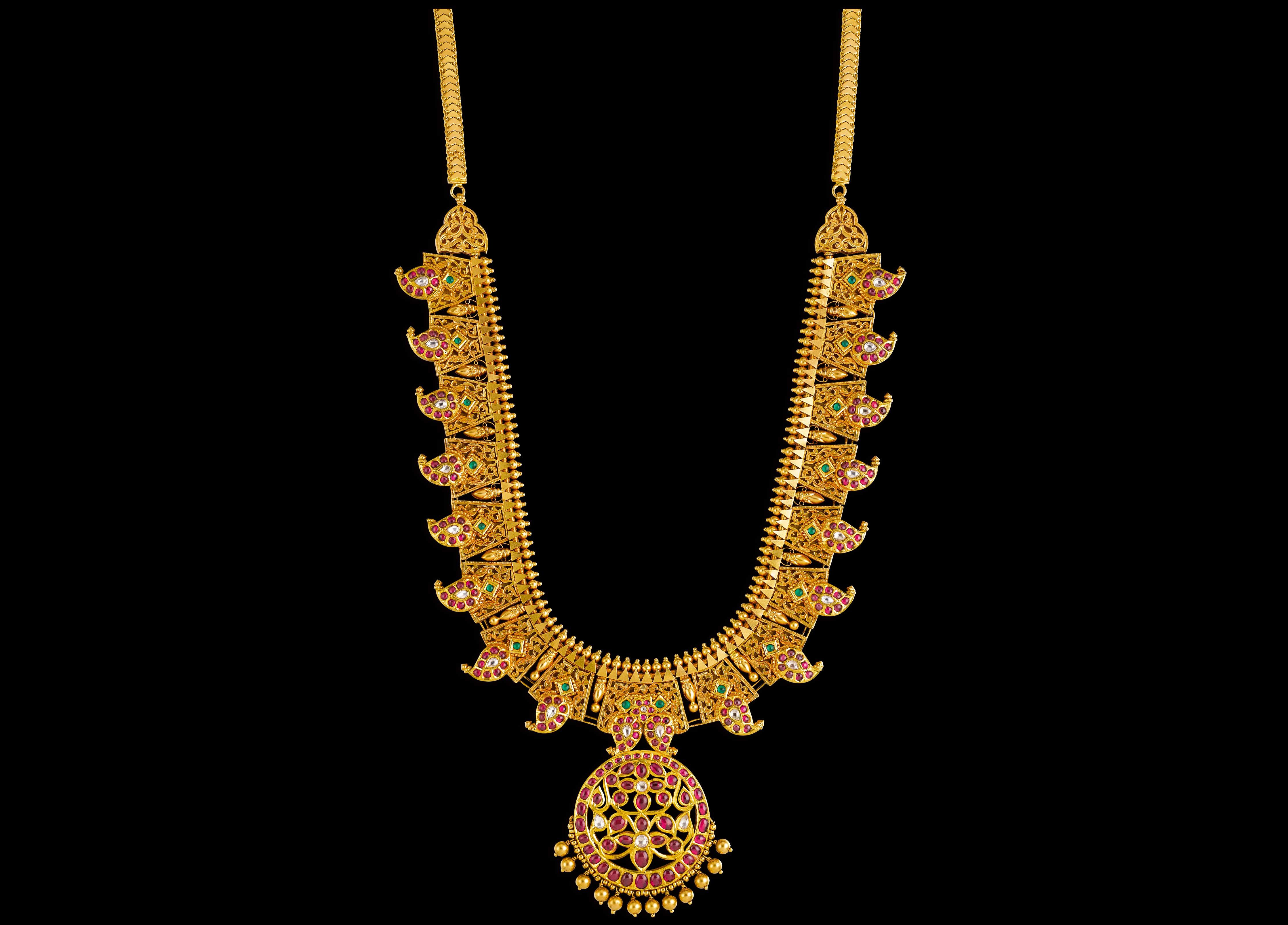 Kalyan Jewellers | Love of Gold (Necklaces) | Pinterest | Gold ...