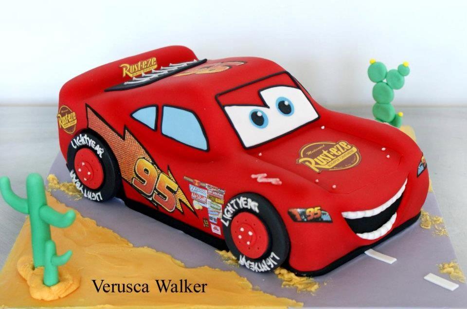 3D Lightening McQueen Cake by Verusca Walker