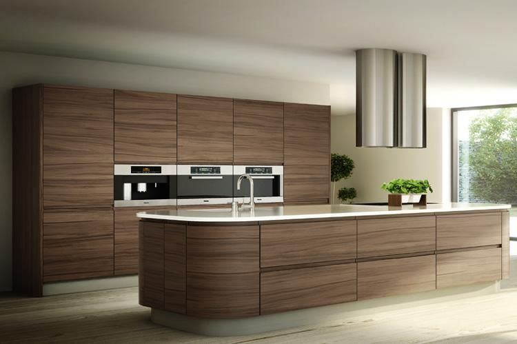 Bibury silk walnut main 750 499 pixels kitchen for Veneer for kitchen cabinets