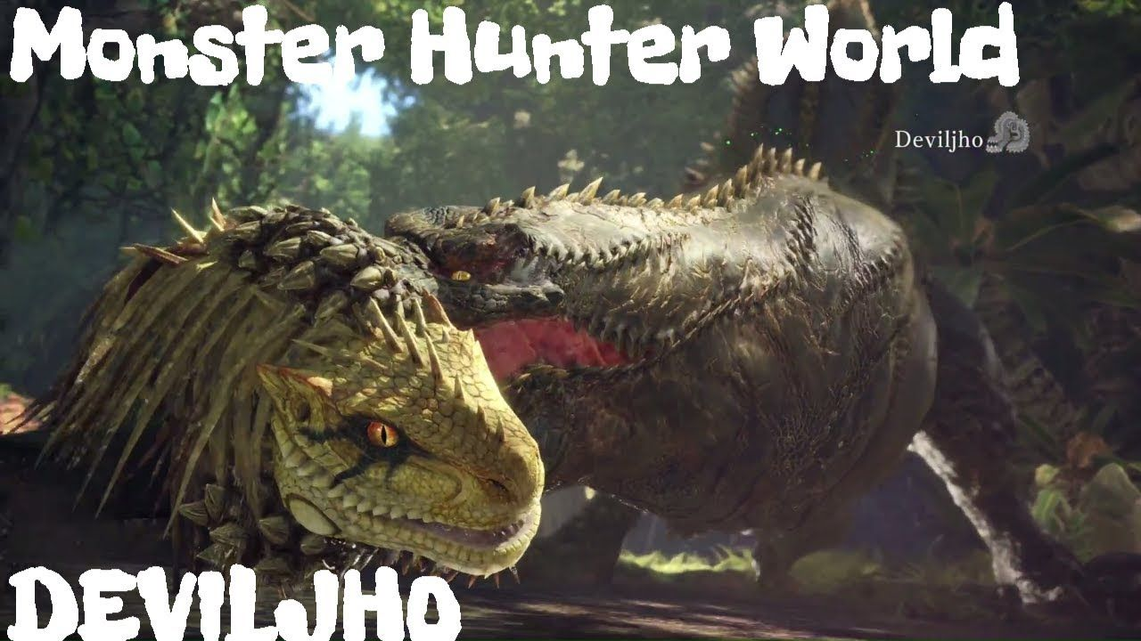 Monster Hunter World Taking On Deviljho First Look Gameplay Ps4