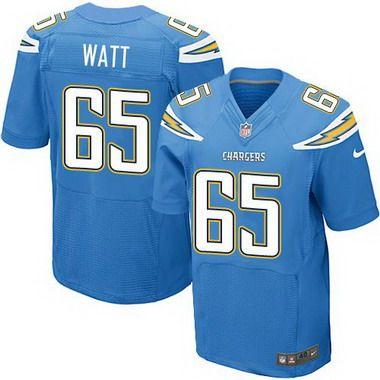Men's San Diego Chargers #65 Chris Watt Light Blue Alternate NFL Nike Elite Jersey