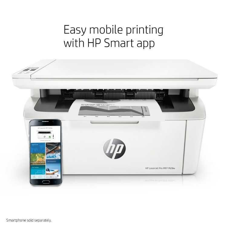 Hp Laserjet Pro M28w All In One Wireless Laser Printer W2g55a Printer Laser Printer Small Laser Printer