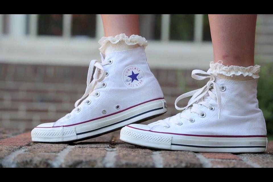 Converse Chucks W socks blue