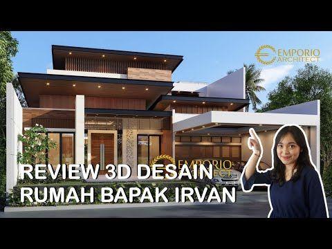 desain rumah mewah bapak irvan dengan style modern tropis