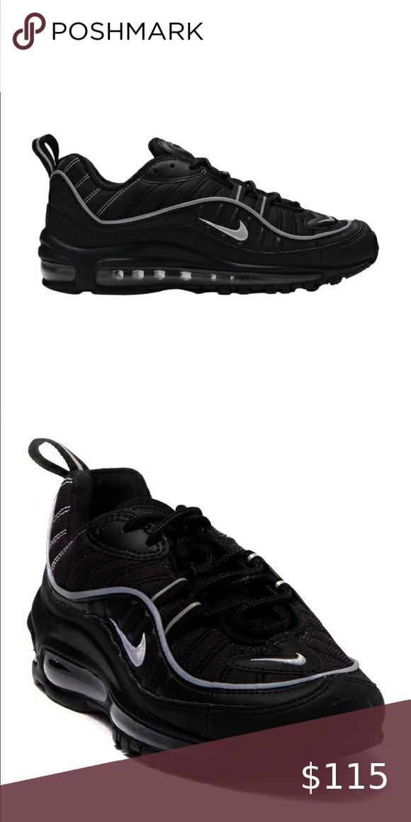 Nike Air Max 98 GS Black Metallic