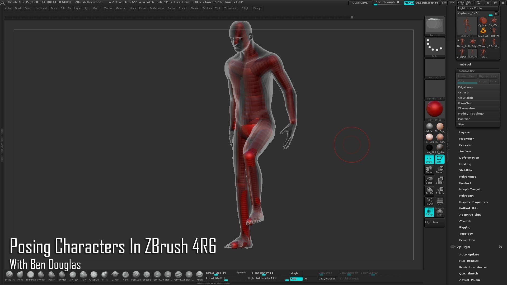 Posing Characters In Zbrush 4r6 Only Made It Through First Part But Looks Great Well Explained And 4r6 Zbrush Zbrush Tutorial Tutorial