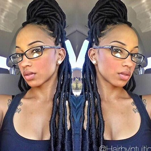 Prime 20 Stunning Photos Of Black Women Rocking Faux Locs Next Style Hairstyle Inspiration Daily Dogsangcom