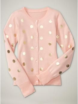 Cute polka dot cardigan. :)