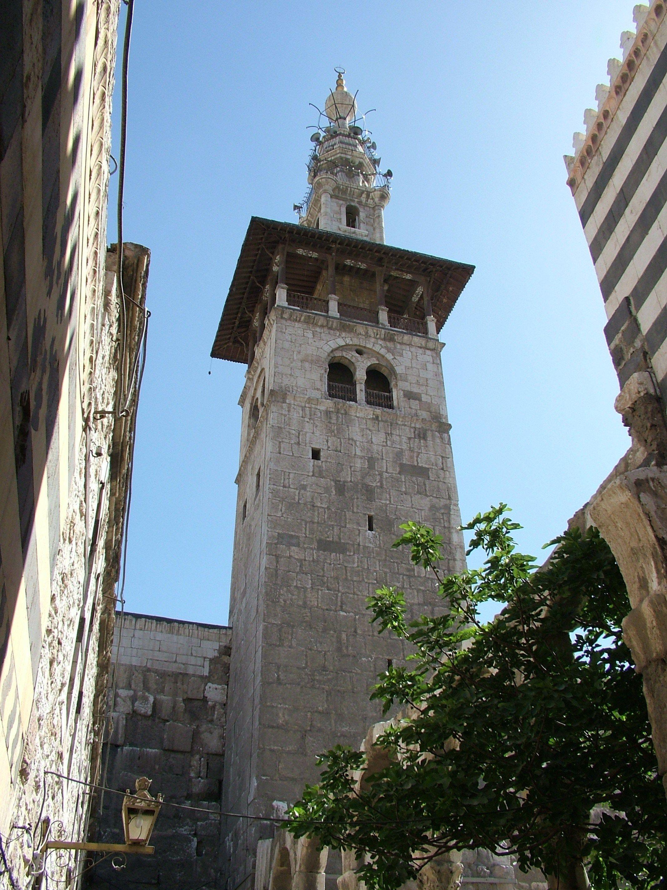 Damascus Umayyad mosque Alarous minaret   Syria Everything