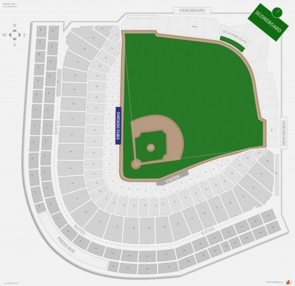 Wrigley Field Concert Seating Chart Wrigley Field Seating Charts Chicago Cubs