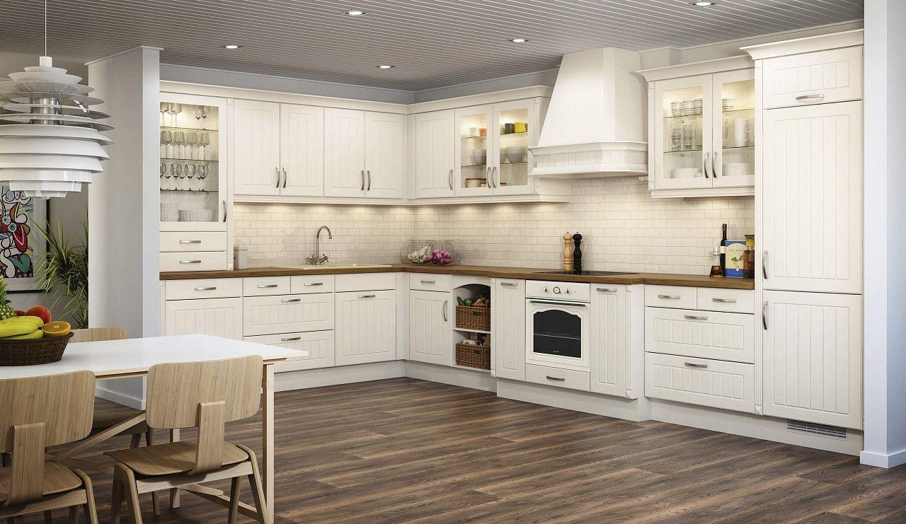 unsere einbauk che odania in magnolie jetzt gratis. Black Bedroom Furniture Sets. Home Design Ideas