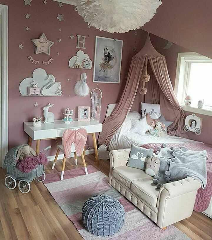39 incre bles cuartos de ni as modernos 2019 child for Decoracion habitacion nina gris y rosa