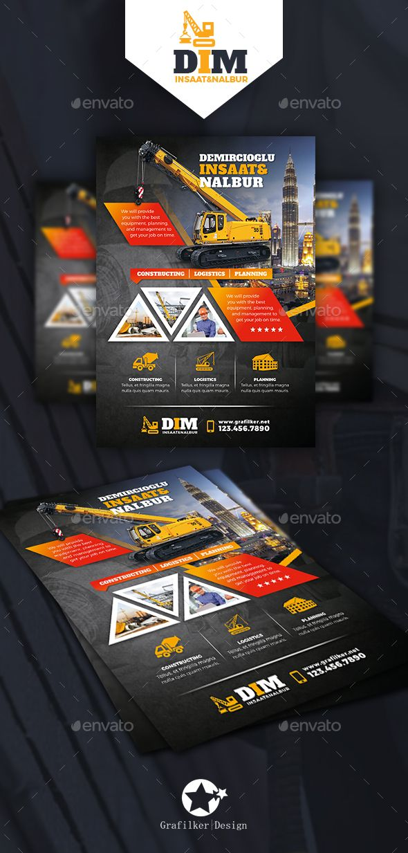 Construction Flyer Templates Flyer Template Template And Brochures