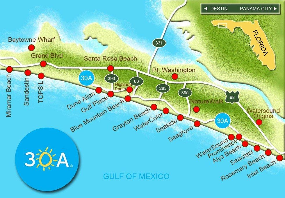 Seaside Florida Map.8 Things To Do On Your 30a Vacation 30a Florida Family Vacay