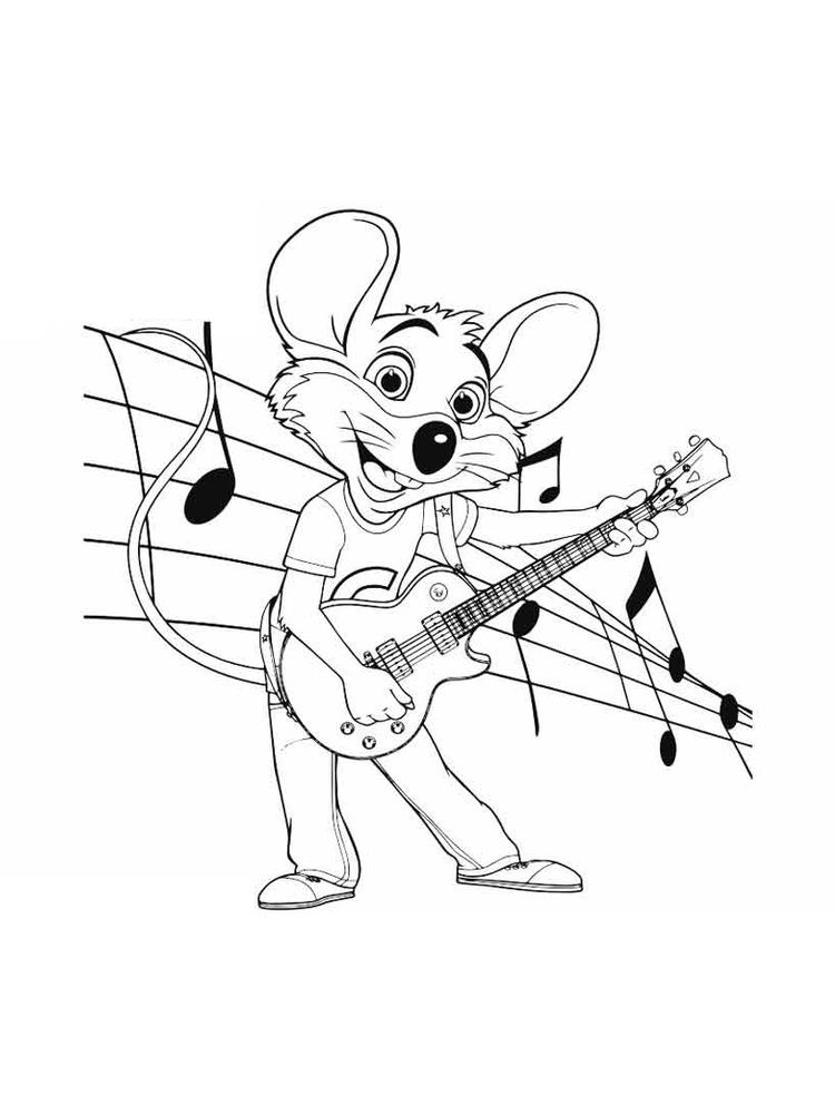 Chuck E Cheese Coloring Pages Sheet Chuck E Cheese S Is A Chain Of American Family Entertainment Centers Chuck E Cheese Cartoon Coloring Pages Coloring Pages