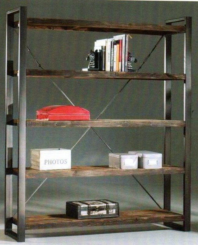 Scaffali In Ferro Industriali.Librerie Etniche Prezzi On Line Librerie Con Scala Rotonde E Bambu