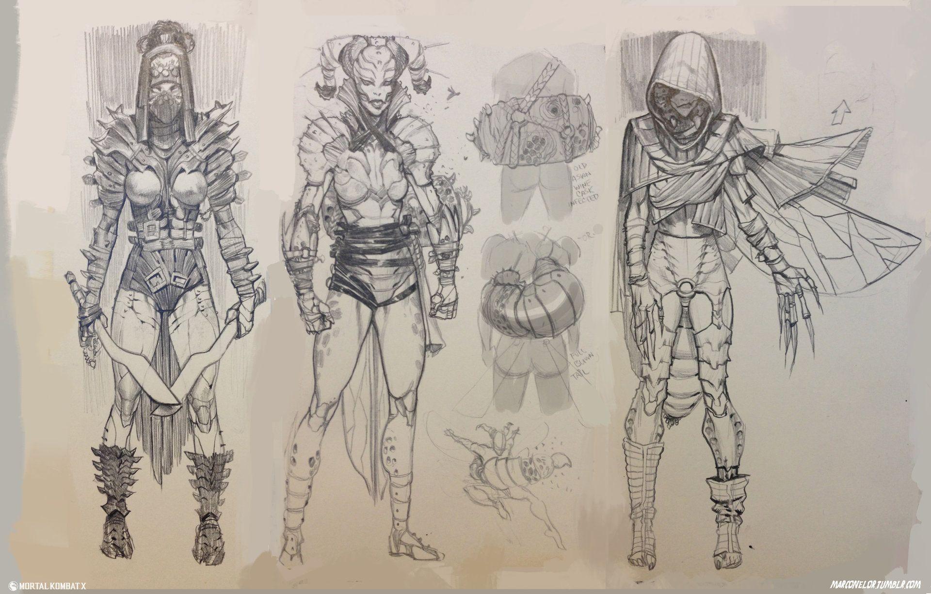Character Design Mortal Kombat : Artstation d vorah character development mortal kombat