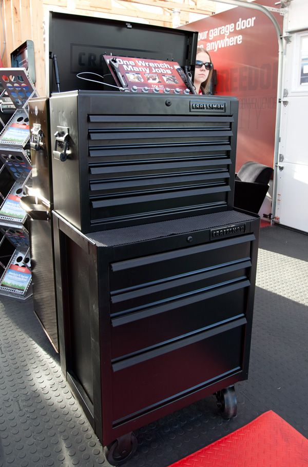 Ces Craftsman Matte Black Tool Cabinet Notcot Shop Tool Boxes