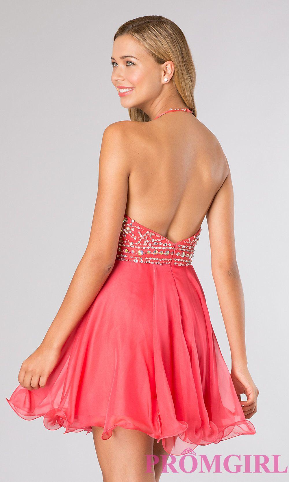 Blush short halter top homecoming dresspromgirl fashion