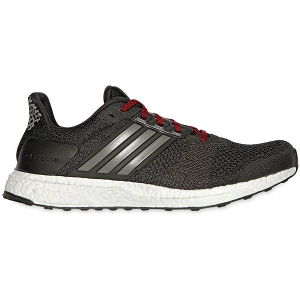 competitive price 739d5 9e0e2 ADIDAS PERFORMANCE Adistar Boost 3 Mesh Running Sneakers - Black ( 200) ❤  liked on Polyvore featuring men s fashion, men s shoes, men s sneakers and  black