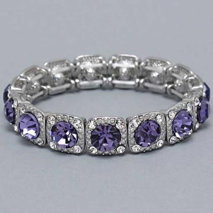 Stretchable Bracelet in Light Purple