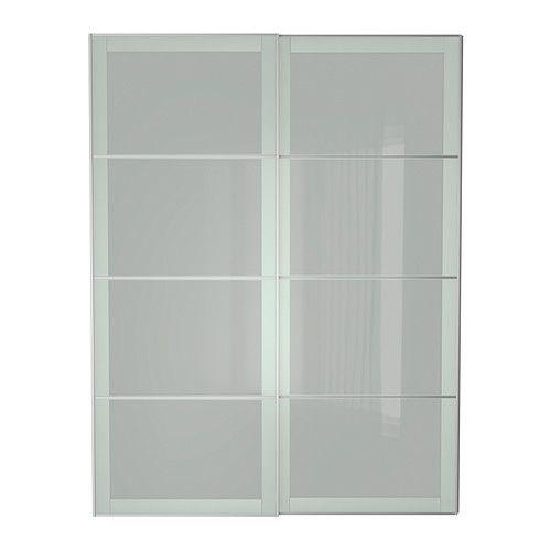SEKKEN Portes coulissantes, 2 pièces, verre dépoli Renseignement - Armoire Ikea Porte Coulissante