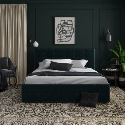 Winston Porter Houchins Upholstered Storage Platform Bed | Wayfair