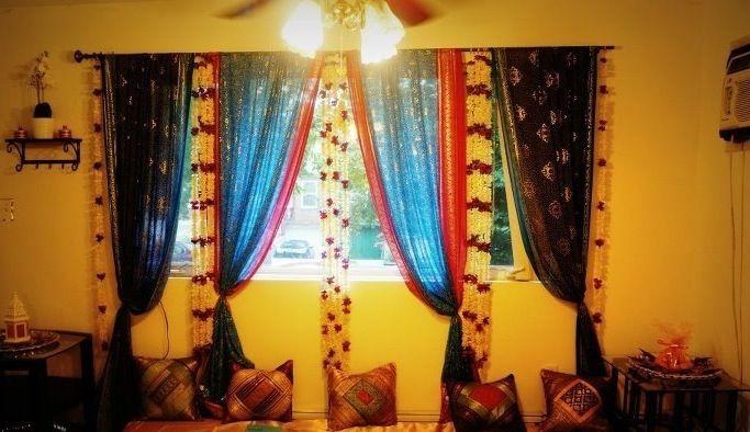 Decor Colors For Mehendi At Home Sangeet Decor Mehndi Decor