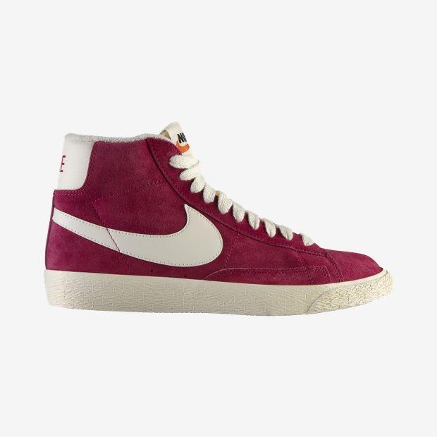 Nike Blazer Mi Suède Robe Bordeaux Cru