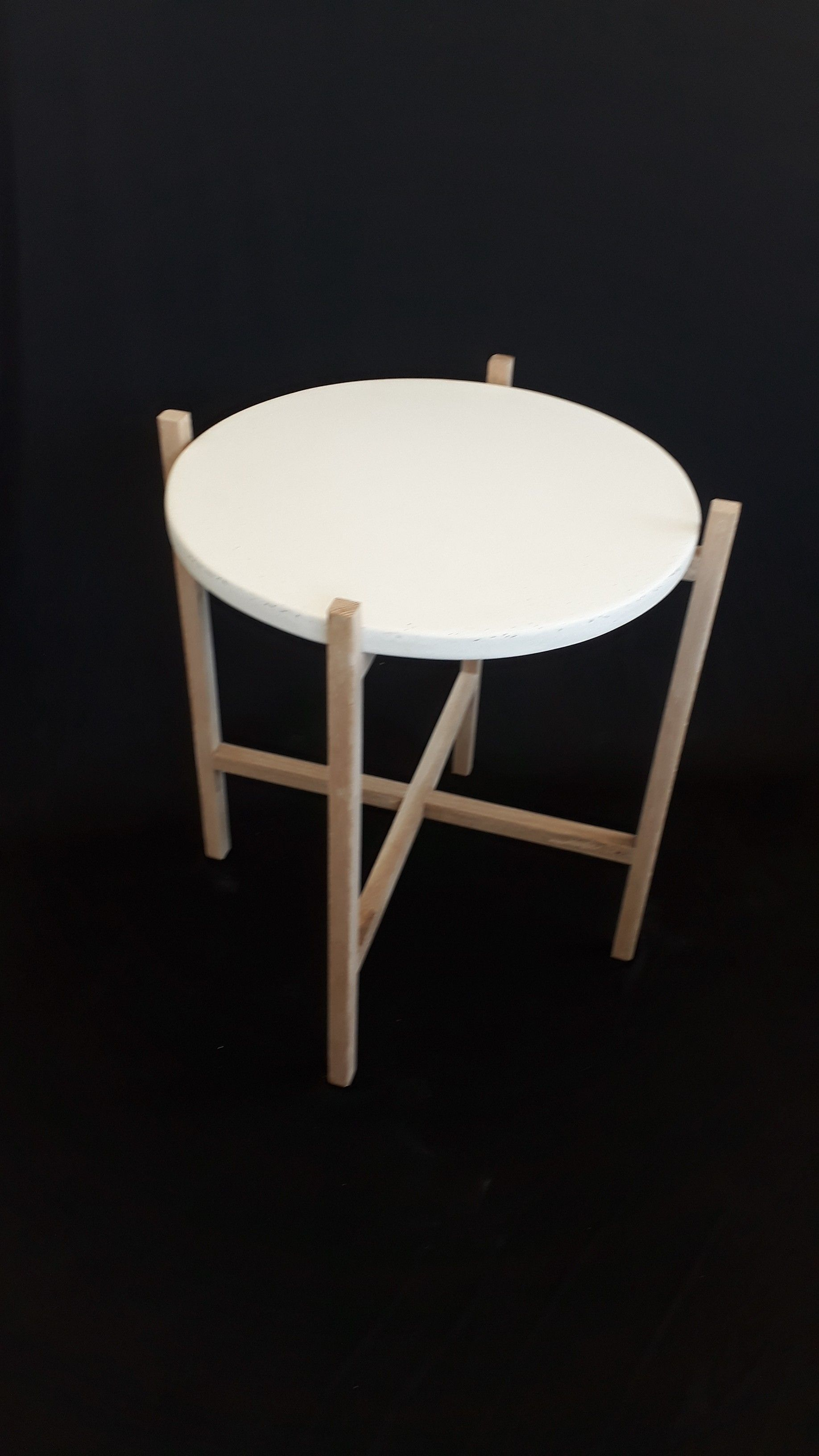 our new oak and concrete side table duchenne cabinetry pinterest