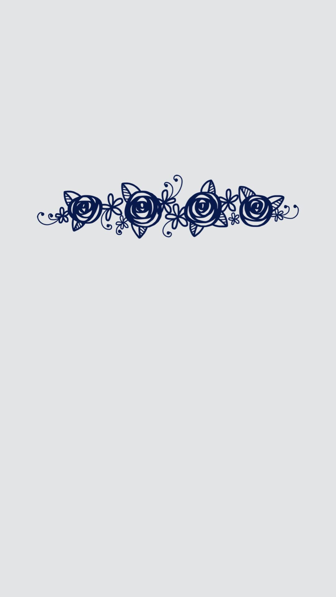iPhone 6 Plus lock screen wallpaper Minimal gray with blue flowers