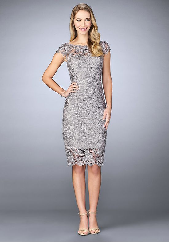 6cd639908bd La Femme Evening 24861 Grey Mother Of The Bride Dress